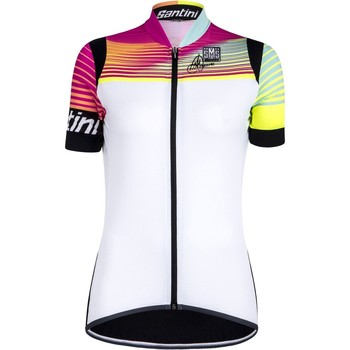 Clothing Women Short-sleeved t-shirts Santini 2016 Anna 2.0 Womens Short Sleeved Cycling Jersey White