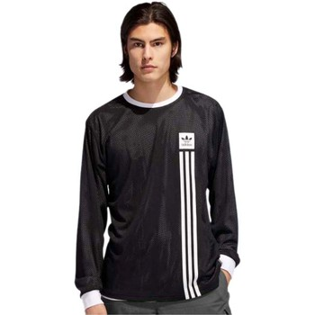 Clothing Men Long sleeved tee-shirts adidas Originals Black-White Reversible Mesh Long Sleeved T-Shirt Black