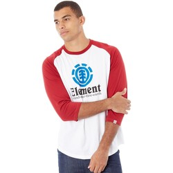 Clothing Men Long sleeved tee-shirts Element Vertical Raglan Optic White