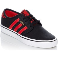 Shoes Men Low top trainers adidas Originals Core Black-Scarlet-Footwear White Seeley J Kids Shoe Black