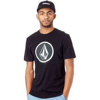 Clothing Men Short-sleeved t-shirts Volcom Black Spray Stone LTW T-Shirt Black