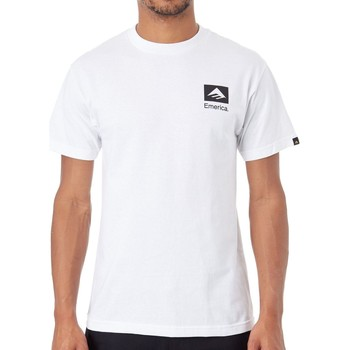 Clothing Men Short-sleeved t-shirts Emerica White-Black Brand Combo T-Shirt White