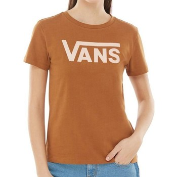 Clothing Women Short-sleeved t-shirts Vans Rubber Flying V Crew Womens T-Shirt Brown