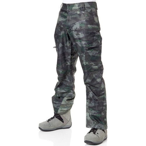 Clothing Men Cargo trousers Oakley Camou Snow Shell 10K 2 Layer Snowboarding Pants Green
