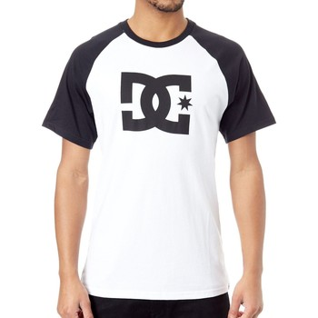 Clothing Men Short-sleeved t-shirts DC Shoes Black-Snow White Star Raglan T-Shirt Black