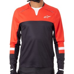 Clothing Men Long sleeved tee-shirts Alpinestars Black Red 2019 Drop Pro Long Sleeved MTB Jersey Black