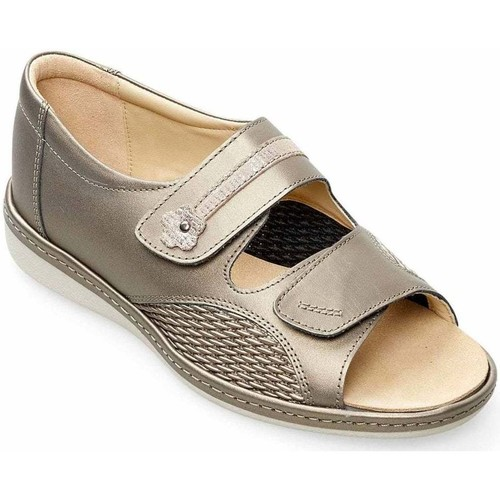 Shoes Women Sandals Padders Peaceful Womens Wide Fit Sandals white