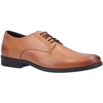 Shoes Men Derby Shoes Hush puppies Oscar Clean Toe Mens Lace Up Shoe brown