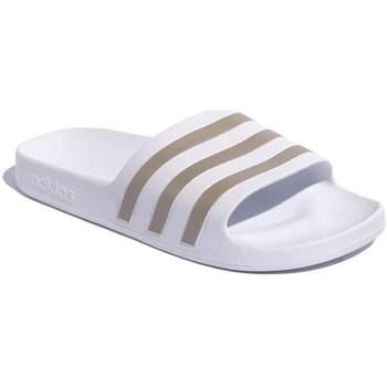 Shoes Men Flip flops adidas Originals Adilette Aqua White, Golden