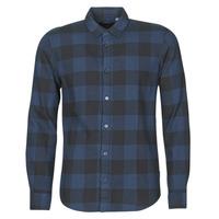 Clothing Men Long-sleeved shirts Only & Sons ONSGUDMUND Marine / Black