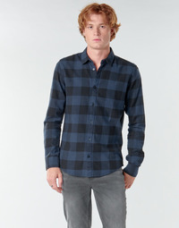 Clothing Men Long-sleeved shirts Only & Sons ONSGUDMUND Marine / Black