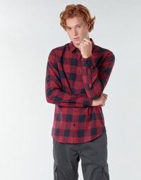 Clothing Men Long-sleeved shirts Only & Sons ONSGUDMUND Bordeaux / Black