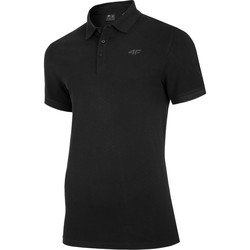 Clothing Men short-sleeved polo shirts 4F NOSH4 TSM008 Black