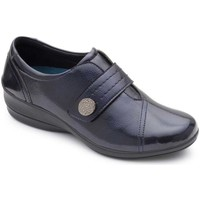 Shoes Women Derby Shoes Padders Simone Womens Casual Wedge Shoe blue