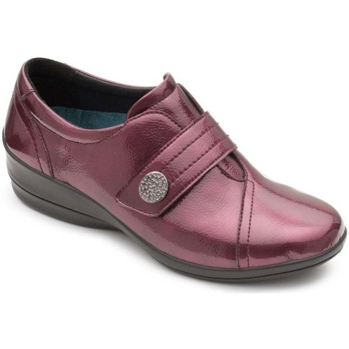 Shoes Women Derby Shoes Padders Simone Womens Casual Wedge Shoe red