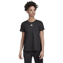 Clothing Women Short-sleeved t-shirts adidas Originals Training White, Black