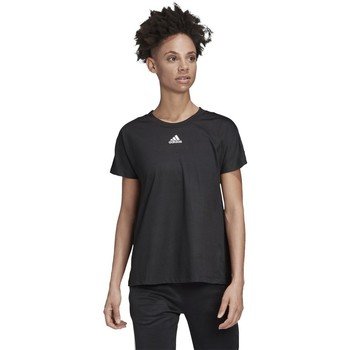 Clothing Women Short-sleeved t-shirts adidas Originals Training White,Black