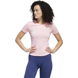 Clothing Women short-sleeved t-shirts adidas Originals Tee Trening Pink