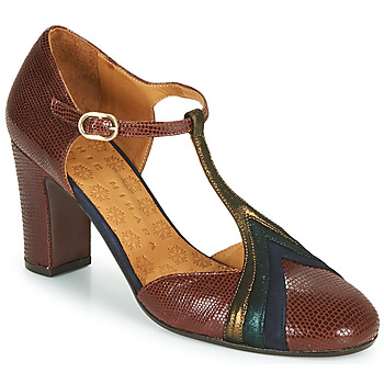 Vintage Heels, Retro Heels, Pumps, Shoes Chie Mihara  WALKI  womens Court Shoes in Brown £278.00 AT vintagedancer.com