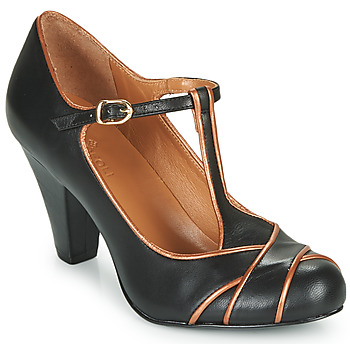 1930s Style Clothing and Fashion Cristofoli  MESTIS  womens Court Shoes in Black £98.70 AT vintagedancer.com