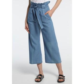 Clothing Women Wide leg / Harem trousers Lois pantalon cinturon dael jinx bleu clair 206902042 Blue