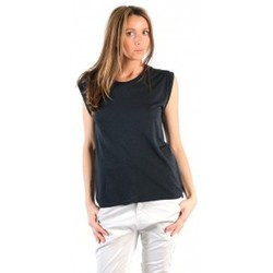 Clothing Women short-sleeved t-shirts American Vintage TOP JAC60 CARBONE Grey
