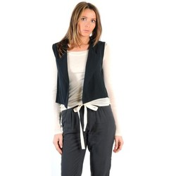 Clothing Women Jackets / Cardigans American Vintage GILET LEA134E11 CARBONE Grey