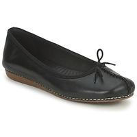Shoes Women Flat shoes Clarks FRECKLE ICE BLACK-LEATHER