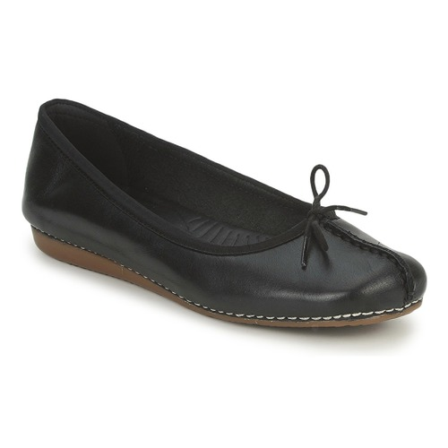 Shoes Women Flat shoes Clarks FRECKLE ICE Black