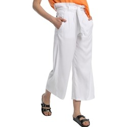 Clothing Women Wide leg / Harem trousers Lois pantalon cinturon dael jinx blanc 206902042 White