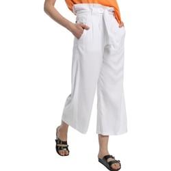 Clothing Women Wide leg / Harem trousers Lois pantalon cinturon dael jinx blanc 206902042 White