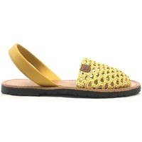 Shoes Women Sandals Popa California Jaune 30907 008 Yellow