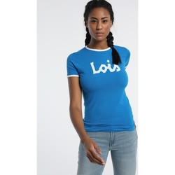 Clothing Women short-sleeved t-shirts Lois T Shirt Bleu 420472094 Blue