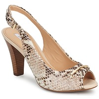 Shoes Women Sandals Geox MARIECLAIRE SNAKE BEIGE