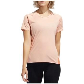Clothing Women short-sleeved t-shirts adidas Originals 257 Rise UP N Run Parley Tee Pink