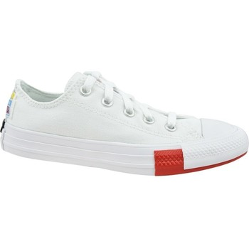Shoes Children Low top trainers Converse Chuck Taylor All Star JR White