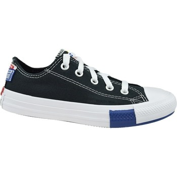Shoes Children Low top trainers Converse Chuck Taylor All Star JR White,Black