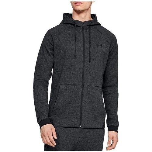 Clothing Men Sweaters Under Armour Unstoppable 2X Knit FZ Hoodie Graphite