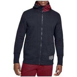 Clothing Men Sweaters Under Armour Baseline Fleece FZ Hoodie Burgundy,Graphite
