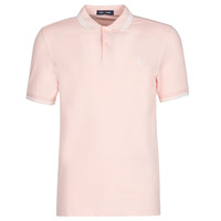 Clothing Men short-sleeved polo shirts Fred Perry TWIN TIPPED FRED PERRY SHIRT Pink