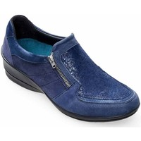 Shoes Women Loafers Padders Serena Womens Wide Fit Casual Shoes blue