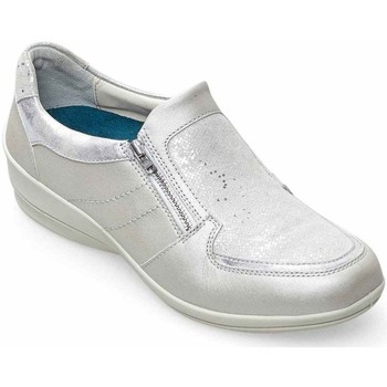 Shoes Women Loafers Padders Serena Womens Wide Fit Casual Shoes Silver