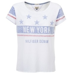Clothing Women short-sleeved t-shirts Hilfiger Denim PHIEBY White