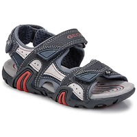 Shoes Boy Outdoor sandals Geox SAFARI Navy / Red