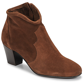 Shoes Women Ankle boots Betty London NORIANE Camel / Velvet