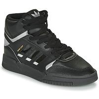 Shoes Hi top trainers adidas Originals DROP STEP Black / Silver
