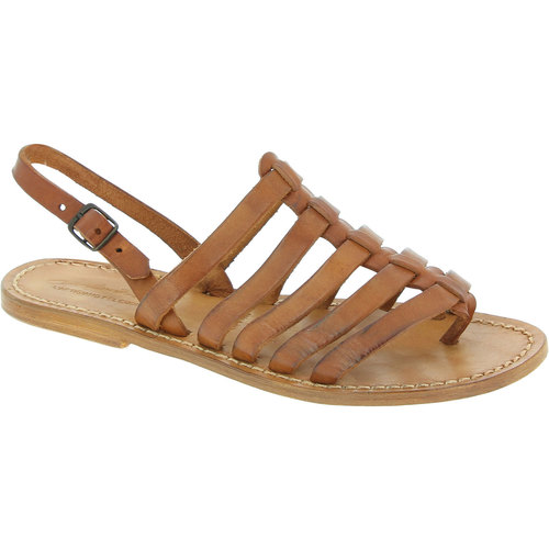Shoes Women Sandals Gianluca - L'artigiano Del Cuoio 576 D CUOIO CUOIO Tan