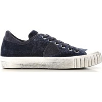 Shoes Women Low top trainers Philippe Model GRLD EV01 blue