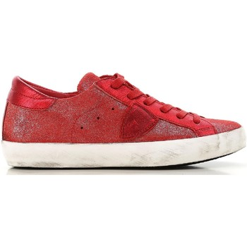 Shoes Women Low top trainers Philippe Model CLLD XM89 red