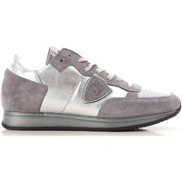 Shoes Women Low top trainers Philippe Model TRLD ME02 silver